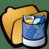 Folder-trash icon
