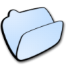 Folder-lightblue-open icon