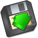 Save to floppy or save as icon