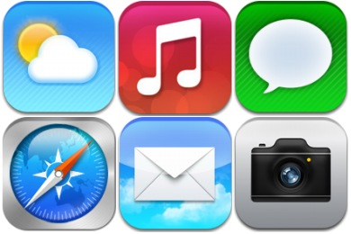 iOS7 Redesign Concept Icons