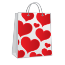 Shopping-bag-hearts icon