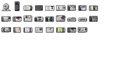 Digi Cam 01 Icons