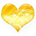 heart gold icon