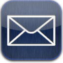 mail blue glow icon