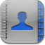 Contacts-blue-glow icon