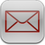 Mail red glow icon