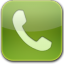 phone green glow icon