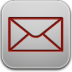 Mail-red icon