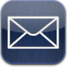Mail-blue-glow icon