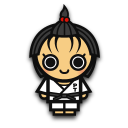 Judo woman icon