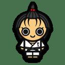 Judo woman icon