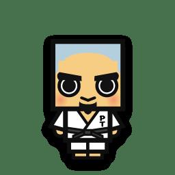 Judo man icon