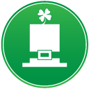 St patricks day hat icon