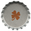 Metal clover icon
