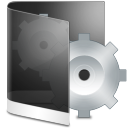 Folder Black System icon