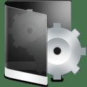 Folder Black System icon