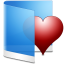 Folder-Blue-Favorite icon