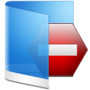 Folder Blue Private icon