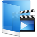 Folder Blue Videos icon