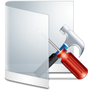 Folder White Configure icon