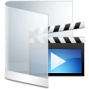 Folder White Videos icon