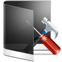 Folder Black Configure icon
