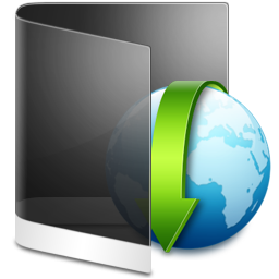 Folder Black Downloads icon