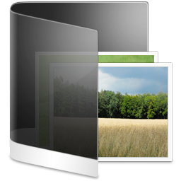 Folder Black Picture icon