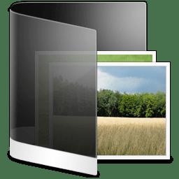 Folder Black Picture icon