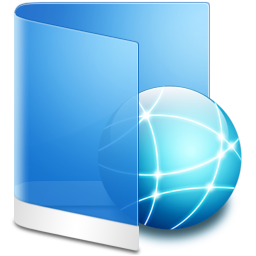 Folder Blue Network icon
