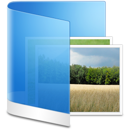 Folder Blue Picture icon