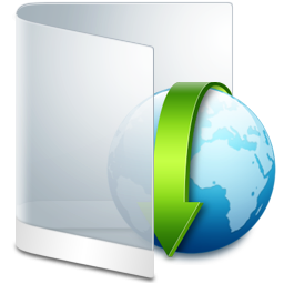 Folder White Downloads icon