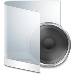 Folder White Music icon
