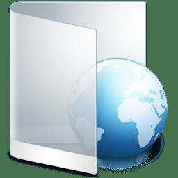 Folder White Web icon
