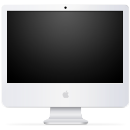 System iMac Black icon