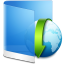 Folder Blue Downloads icon