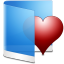 Folder Blue Favorite icon