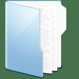 Folder Blue Documents icon