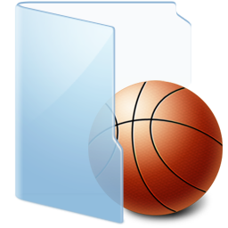 Folder Blue Games icon