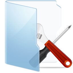 Folder Blue Tools icon
