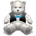 Gift Light Grey bear icon