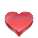 Heart candies icon