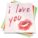 Paper kiss icon