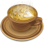 Coffee brown icon
