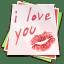 Paper kiss icon