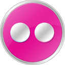 flickr Pink icon