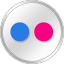 Flickr White icon