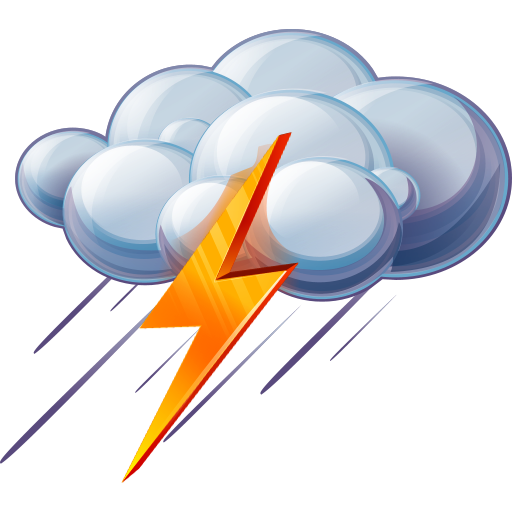Thunder Icon | Large Weather Iconset | Aha-Soft Team