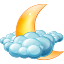 Cloudy-night icon