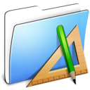 Aqua Smooth Folder Applications icon
